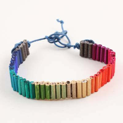 Recycled paper unity bracelet, Rainbows for Strength