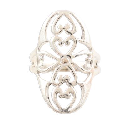 Ornate Sterling Silver Jali Ring