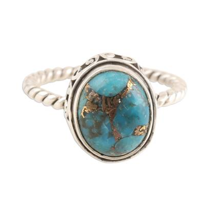 Sterling Silver and Composite Turquoise Ring