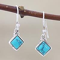 Sterling silver dangle earrings, 'Happy Kites' - Sterling Silver Dangle Earrings from India