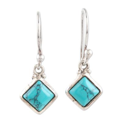 Sterling silver dangle earrings, 'Happy Kites' - Sterling Silver Dangle Earrings from India