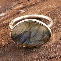 Labradorite cocktail ring, Sonata at Dusk
