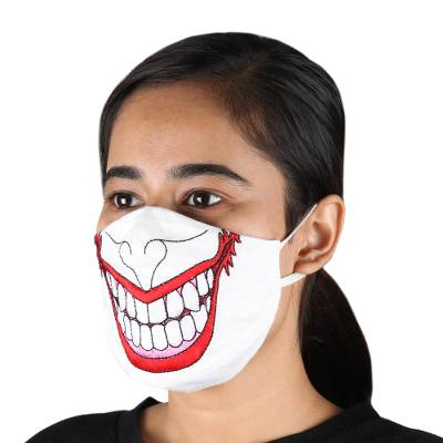 Cotton face masks, Spooky Clown (pair)