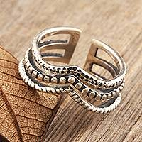 Sterling silver wrap ring, 'Creative Glory' - Handmade Sterling Silver Wrap Ring