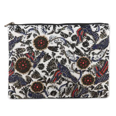 Handmade Floral Cotton Clutch Bag