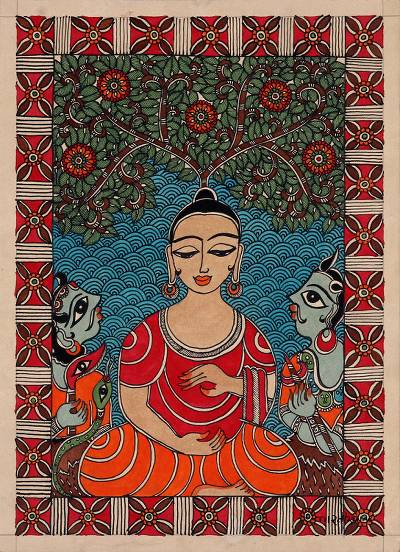 Madhubani Folk Painting on Handmade Paper