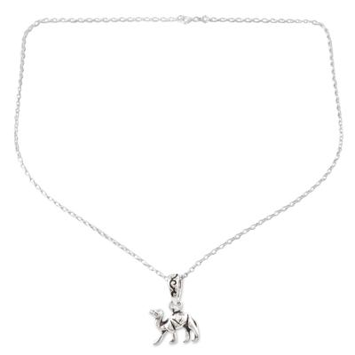 Sterling silver pendant necklace, 'Desert Ship' - Sterling Silver Camel Pendant Necklace