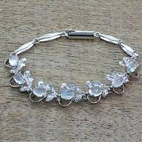 Moonstone tennis bracelet, 'Misty Affair'