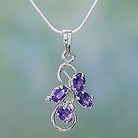 Amethyst pendant necklace, 'Shining Mauve' - Amethyst pendant necklace