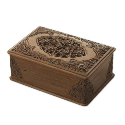 Floral Wood Jewelry Box Eden Tree NOVICA