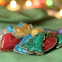 Ornaments, 'Christmas Sparkle' (set of 12)