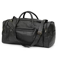 Leather travel bag, 'Brazil in Black' (medium) - Leather travel bag (Medium)