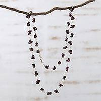 Garnet necklace, 'Cherries'