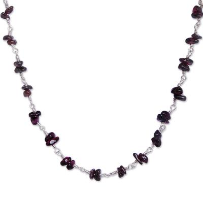 Garnet necklace, 'Cherries' - Garnet necklace