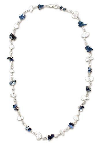 Quartz and sodalite necklace
