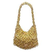 Soda pop-top purse, 'Mini-Shimmery Gold'