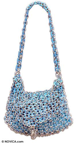 Recycled Aluminum Soda Pop-Top Shoulderbag