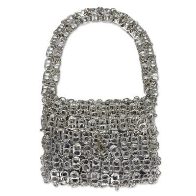 Unique Recycled Aluminum Soda Pop-Top Handbag