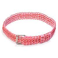 Soda pop-top belt, 'Super Pink Chain Mail' - Soda pop-top belt