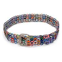 Soda pop-top belt, 'Multicolor Armor Chain Mail' - Recycled Aluminum Belt