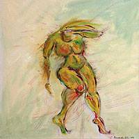 'Capoeira' - Artistic Nude Painting
