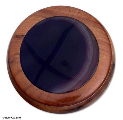 Artisan Crafted Agate Jewelry Box