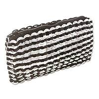 Soda pop-top clutch bag, 'Night Elegance' - Soda pop-top clutch bag