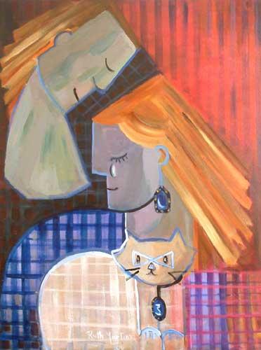 'Cubist Tenderness' - Cubist Painting