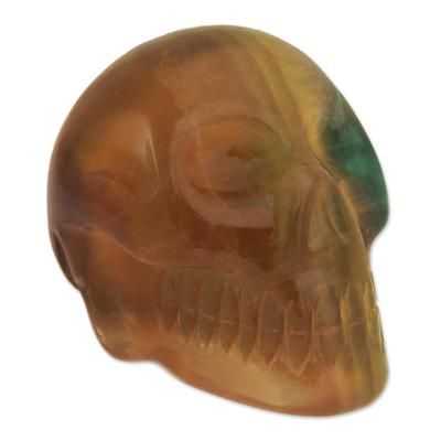 Fluorite statuette, 'Misty Green Skull' - Fluorite statuette