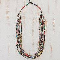 Long necklace, 'Rainbow Paths'
