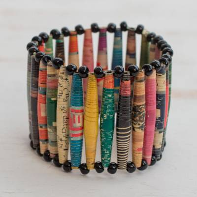 Recycled paper bracelet, Novelty