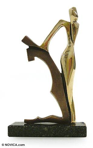 Bronze sculpture, 'Caresses' - Bronze sculpture