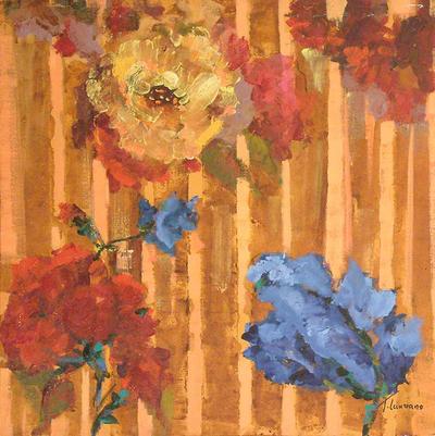 'Loose Flowers' - Floral Impressionist Painting