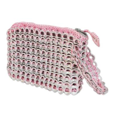 Soda pop-top wristlet bag