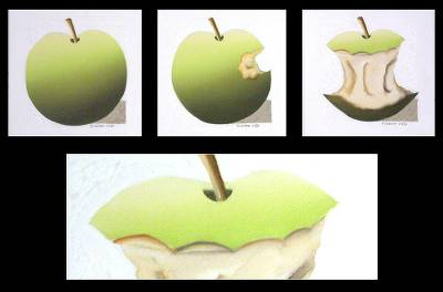 'Green Apple' (triptych)