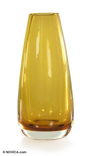 Murano Inspired handblown vase