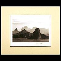 'Rio de Janeiro Seen from Niteroi' - Black and white photograph on Color Mount paper