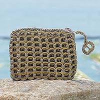 Soda pop-top coin purse, 'Bronze Style'