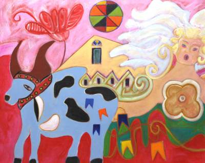 'Things of Brazil' - Original Surrealist Painting