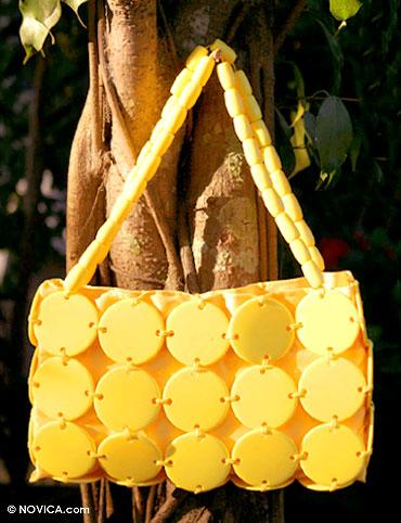 Handbag, 'Sunshine Buttons' - Handbag