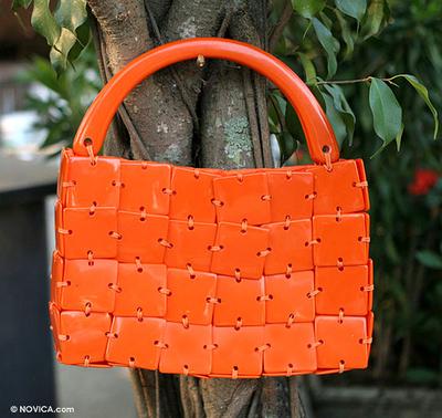Handbag, 'Tangerine' - Handbag