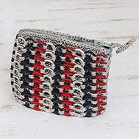 Soda pop-top coin purse, 'Three Colors True' - Soda pop-top coin purse
