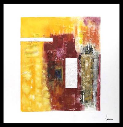 'Encounter of Forms and Colors' - Abstract Painting