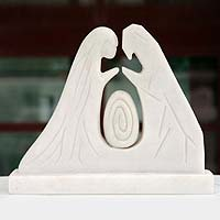 Marble resin sculpture, 'Nativity Scene' - Marble resin sculpture