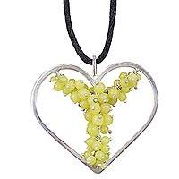 Double tie jade necklace, 'A Nourishing Love' - Double tie jade necklace