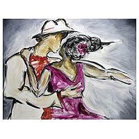 'Samba Dance Hall' - Acrylic Expressionist Painting