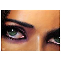 'Reflection in Her Eye' (2007) - Brazilian Acrylic Painting