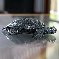 Dolomite statuette, 'Sea Turtle'
