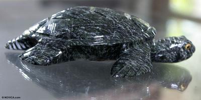 Dolomite statuette, 'Sea Turtle' - Dolomite statuette