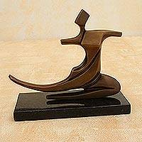 Bronze sculpture, 'Dancing Palace' - Bronze sculpture